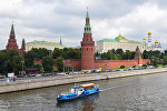 Вид на московский кремль с большого каменногомоста