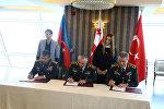 Azərbaycan, Gürcüstan və Türkiyə Silahlı Qüvvələri rəhbərlərinin görüşü başa çatıb