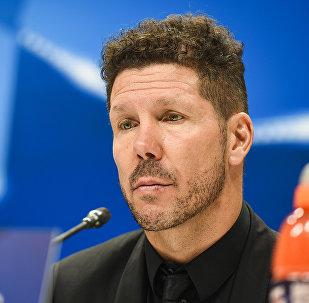 Главный тренер испанского футбольного клуба Атлетико Мадрид Диего Симеоне, архивное фото