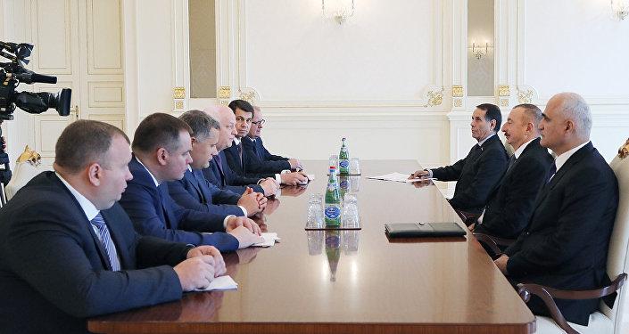İlham Əliyev Ukrayna Baş nazirinin birinci müavininin rəhbərlik etdiyi nümayəndə heyətini qəbul edib