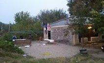 Избирательный штаб правящей партии Грузинская мечта — демократическая Грузия в селе Кизиладжло Марнеульского района Грузии, 20 октября 2017 года