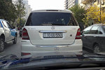 Mercedes с госномером 10-UU-550