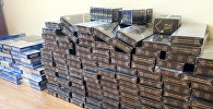 Контрабандные сигареты, изъятые сотрудниками таможенного управления Ширванского района