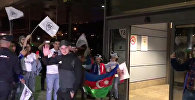 Карабах встретили в мадридском аэропорту