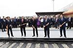Bakı-Tbilisi-Qars dəmir yolu xəttinin açılış mərasimi