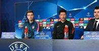 Пресс-конференция главного тренера испанского футбольного клуба Атлетико Диего Симеоне