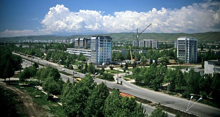 Вид на центр города Душанбе