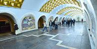 Бакинский метрополитен. Подземный вестибюль станции Низами