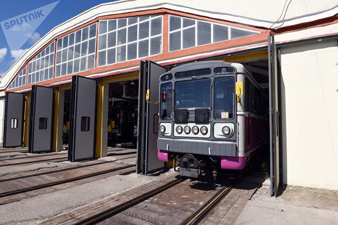 Поезда в депо