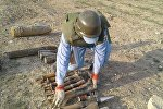Операция по разминированию в Хызинском районе