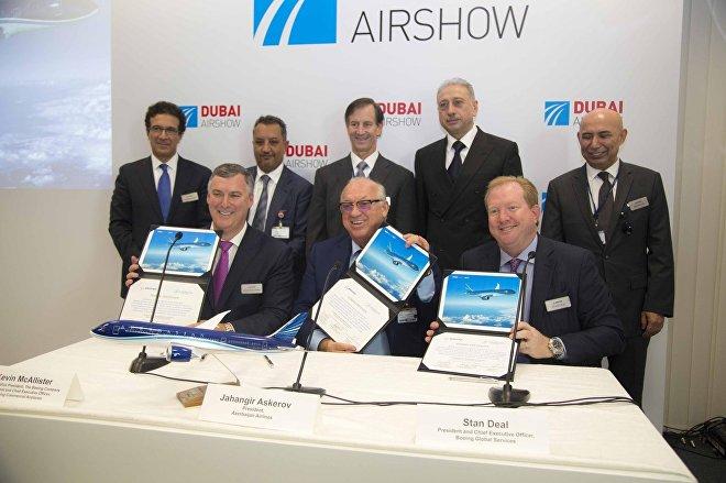 Подписание соглашения между AZAL и Boeing о покупке новых самолетов