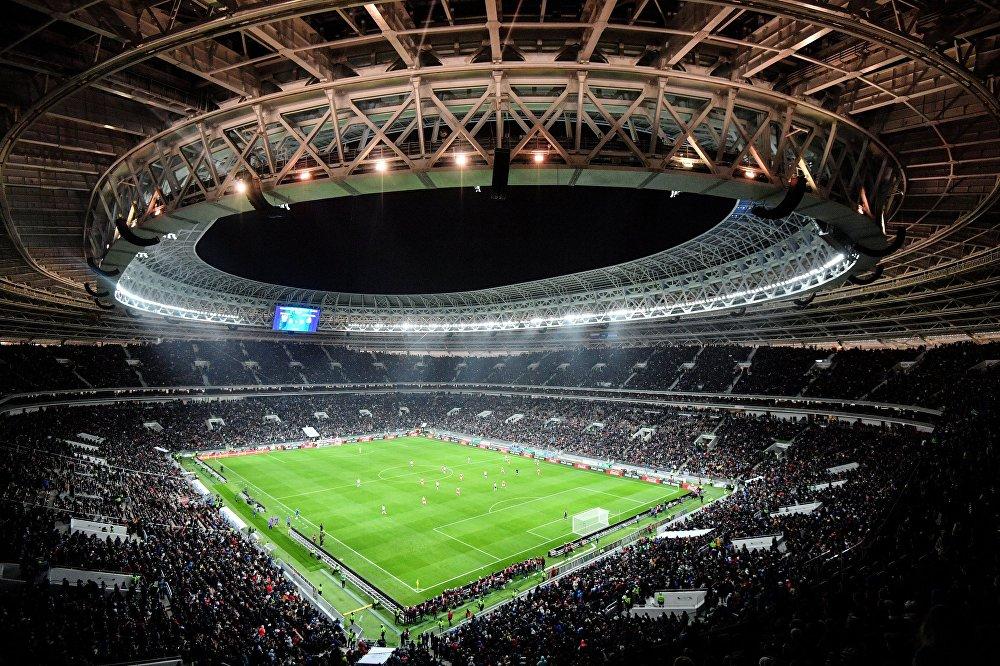 Товарищеский матч между сборными командами России и Аргентины на стадионе Лужники
