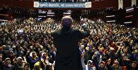 Президент Турции Реджеп Тайип Эрдоган перед сторонниками в Конье, Турция
