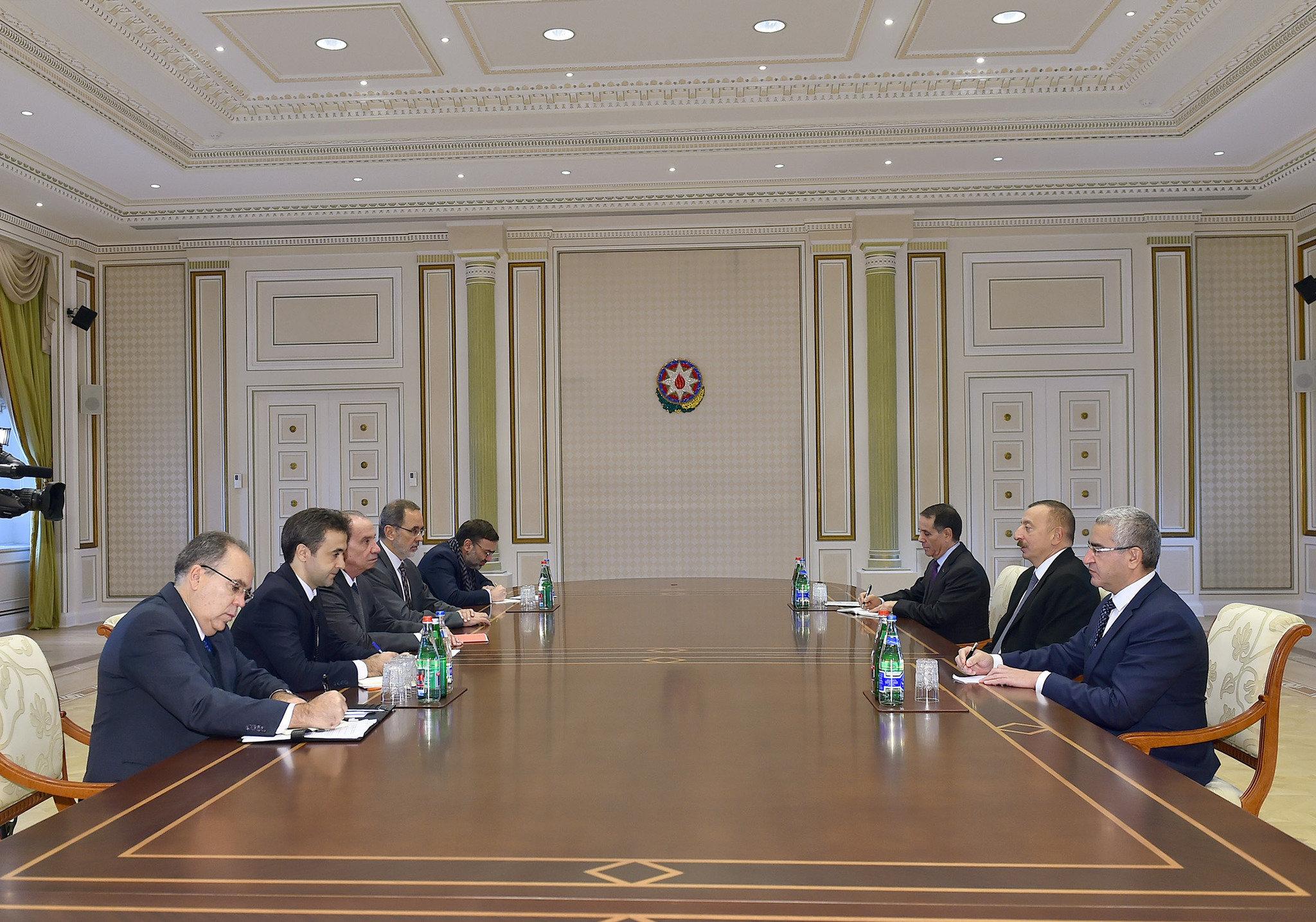 Президент Ильхам Алиев принял делегацию во главе с министром иностранных дел Бразилии
