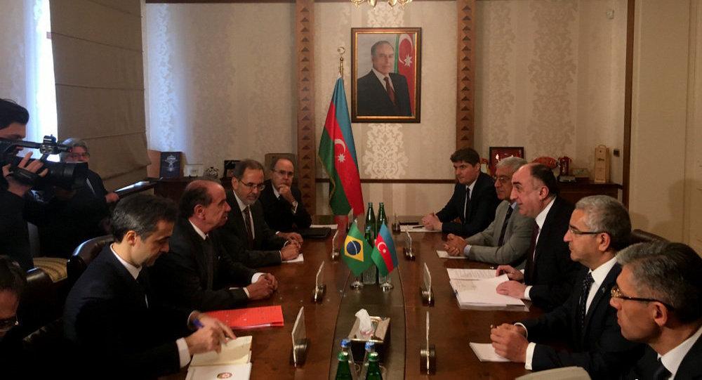 Министр иностранных дел Эльмар Мамедъяров встретился с министром иностранных дел Бразилии Алоизио Нунесом Феррейрой