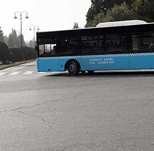 Пассажирский автобус в Сумгайыте, фото из архива