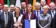 Церемония подписания учредительных документов в рамках европейской программы Постоянного структурного сотрудничества в оборонной сфере, Брюссель, 13 ноября 2017 года