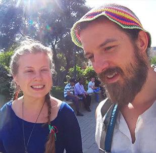 Авторы проекта Go! Евгений и Марина в Баку