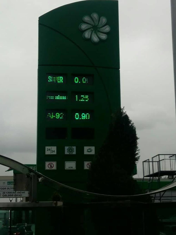 Benzin qiymətləri