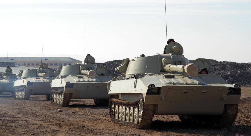 Войска Нахчыванского гарнизона продолжают деятельность в рамках командно-штабных военных игр