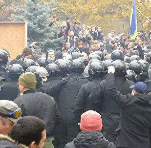 Столкновения полиции и демонстрантов в Одессе