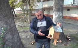 Житель Мингячевира приютил воробьев, скворцов и дроздов