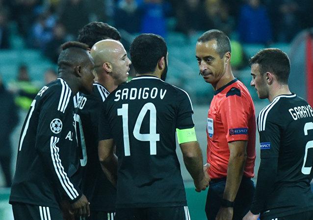 Матч пятого тура группового этапа Лиги чемпионов UEFA между ФК Карабах и ФК Челси