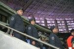 Меры безопасности во время игры между ФК Карабах и ФК Челси
