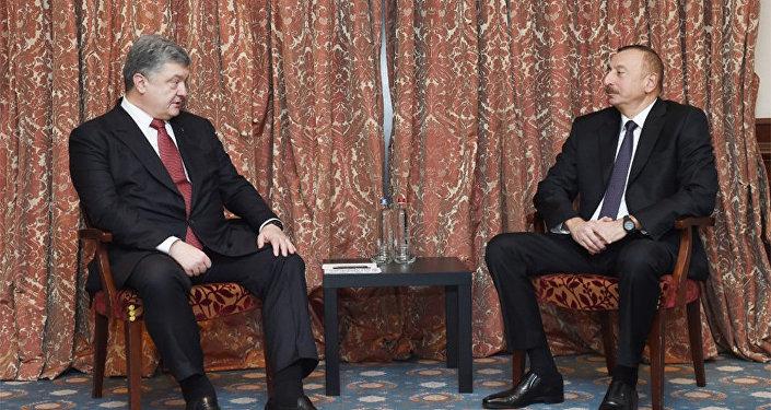 Azərbaycan Prezidenti İlham Əliyevin və Ukrayna Prezidenti Petro Poroşenkonun Brüsseldə görüşü olub
