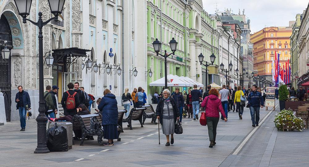 Moskvanın Nikolskaya küçəsi, arxiv şəkli