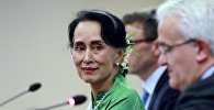 Myanmanın hökumət başçısı, ölkənin faktiki lideri San Su Çji