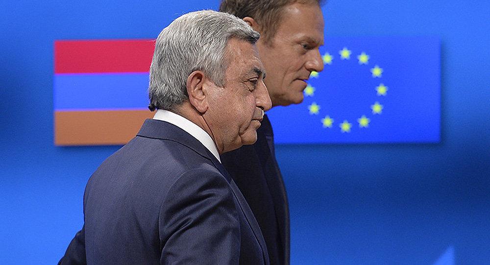 Serj Sarkisyan və Donald Tusk