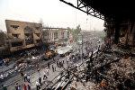 Разрушения в последствии террористической атаки, фото из архива