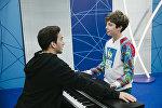 Участник международного музыкального конкурса Во весь голос Рустам Керимов выступил на очередном отчетном концерте проекта