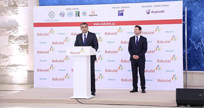 Ильхам Алиев иМехрибан Алиева посетили выставку Bakutel