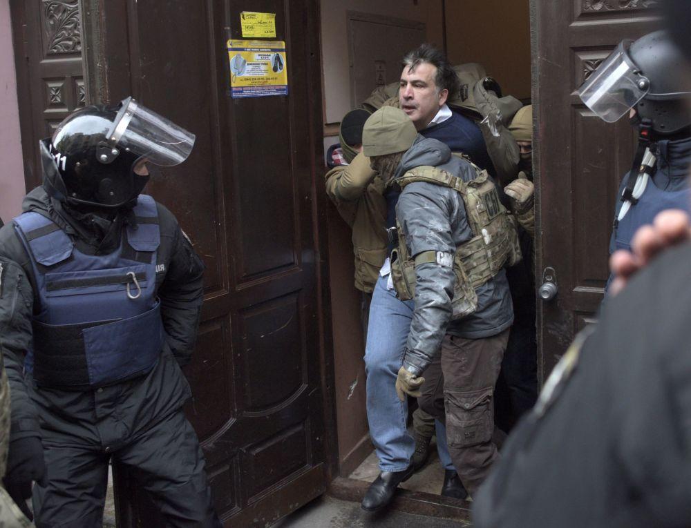 Задержание бывшего президента Грузии Михаила Саакашвили в Киеве