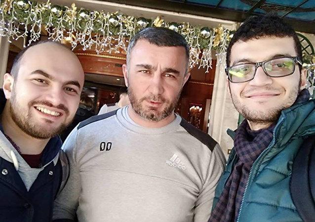 Азербайджанские студенты с Гурбаном Гурбановым