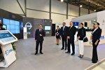Президент Азербайджана Ильхам Алиев ознакомился с выставкой Bakutel-2017