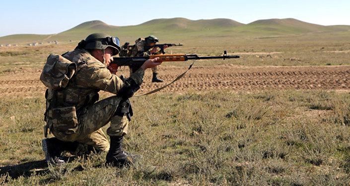 Учения ВС Азербайджана, фото из архива