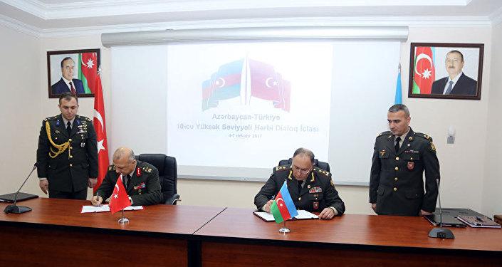 Подписан Протокол 10-го Заседания Азербайджано-Турецкого Военного Диалога на Высшем Уровне