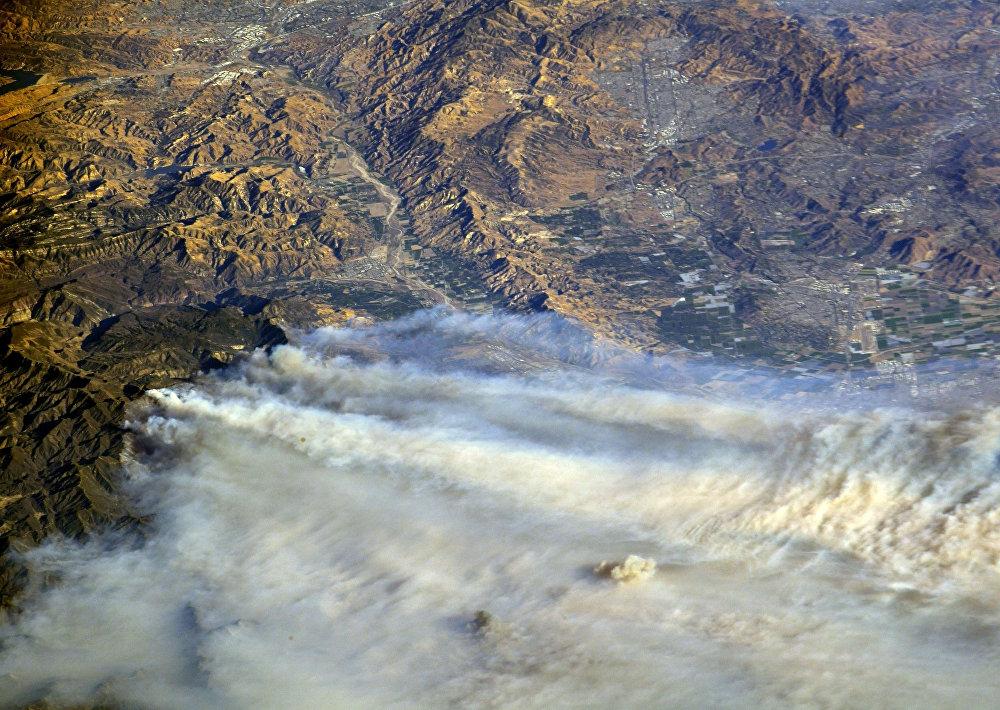 Вглобальной паутине показали впечатляющее видео «адских» лесных пожаров вКалифорнии