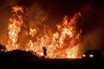 """Лесной пожар """"Томас"""" на юге штата Калифорния, США"""