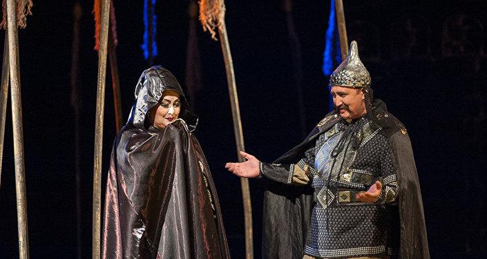 Репетиции спектакля Гатиба Инанч