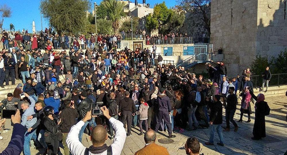 Ситуация у Дамасских ворот в Иерусалиме, 8 декабря 2017