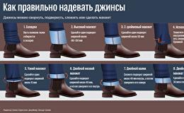 Как правильно надевать джинсы