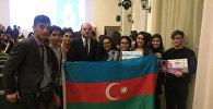 Азербайджанские школьники стали победителями Международной олимпиады по русскому языку в Москве