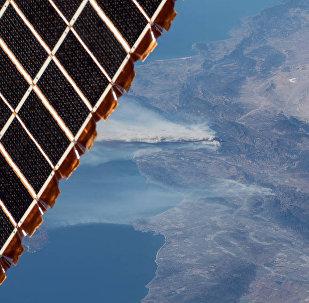 Вид с Международной космической станции на Калифорнийский полуостров