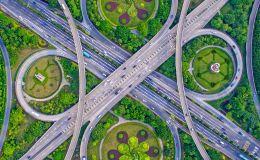 Снимок Cross Bridge Waltz фотографа Guo Ji Hua, финалист конкурса Art of Building photography awards 2017
