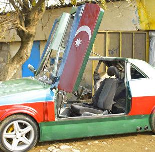 Азербайджанец собрал свой автомобиль с крыльями чайки