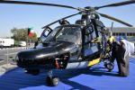 Вертолет Airbus H225 министерства внутренних дел Кувейта на международной выставке вооружения и военной техники Gulf Defence & Aerospace-2017 в Эль-Кувейте